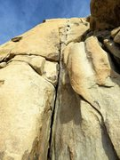 Rock Climbing Photo: Looking up The Flake from the base.