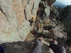 Rock Climbing Photo: Eric leading Kiddy Pool.