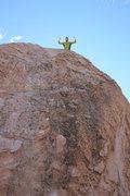 Rock Climbing Photo: On top of Drifter