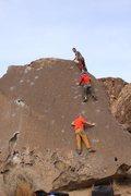 Rock Climbing Photo: On the send train