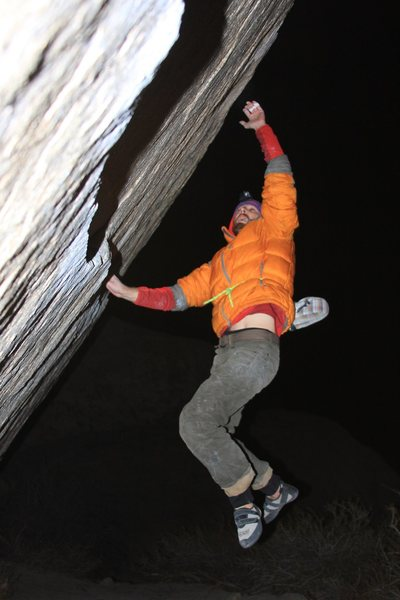 Rock Climbing Photo: Trying the Dyno on Iron Fly