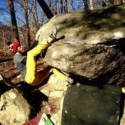 Rock Climbing Photo: Finish holds for sitting target. Pretty chill for ...