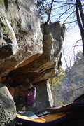 Rock Climbing Photo: Parlier one move off of the start on Down for the ...