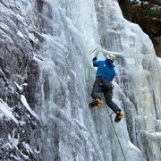 Rock Climbing Photo: Climber sending LotB
