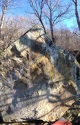 Rock Climbing Photo: West face of the North boulder