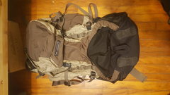 Rock Climbing Photo: REI Morning Star 65L backpack. Seen a lot of use o...