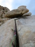 Rock Climbing Photo: Our gear anchor at the top of White Lightning. Tak...