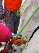 Rock Climbing Photo: A 70m rope just makes it to the ground for a topro...