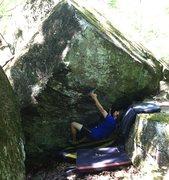 Rock Climbing Photo: Matt on the start of his problem