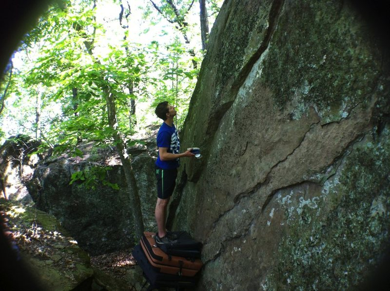 Rock Climbing Photo: The project