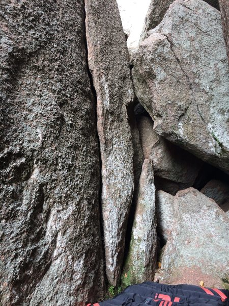 Rock Climbing Photo: Flake Crack