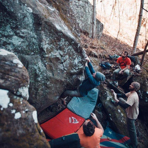 Rock Climbing Photo: Kyle on Total Recall