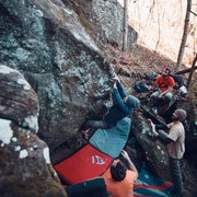 Rock Climbing Photo: Kyle on Total Recall