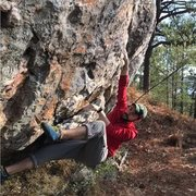 Rock Climbing Photo: moving off of large break