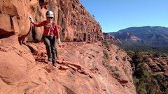 Rock Climbing Photo: Key ledge on approach