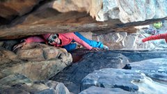 Rock Climbing Photo: Chimney Section