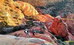 Rock Climbing Photo: Rappelling the two 5.6 (bit oldschool) steps.