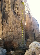 Rock Climbing Photo: Conquistadors Without Swords - 5.13b