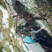 Rock Climbing Photo: Alex on LF