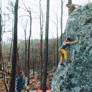 Rock Climbing Photo: April Price on Dawn Wall