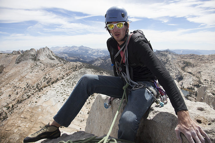 Rock Climbing Photo: joey on cathedral peak
