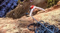 Rock Climbing Photo: 10' from the top-out of Upper Ruper....