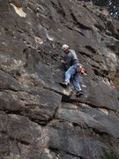 Rock Climbing Photo: Buck Shearouse taking the first free ascent of thi...