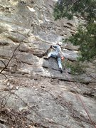Rock Climbing Photo: At the first bolt