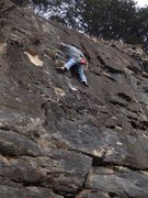 Rock Climbing Photo: At the forth bolt
