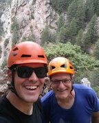 First day in Eldo with a great friend and mentor! Swanson Arete