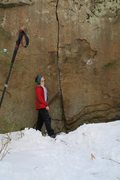 Rock Climbing Photo: Finally found it after the pond froze over. Here i...