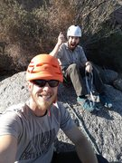 """Rock Climbing Photo: On top of """"One for the Road""""."""