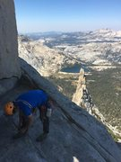 Rock Climbing Photo: Donnie gets ready for the traverse to Eichorn from...
