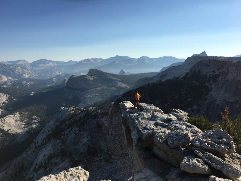 Rock Climbing Photo: Ledge by the summit of Tenaya