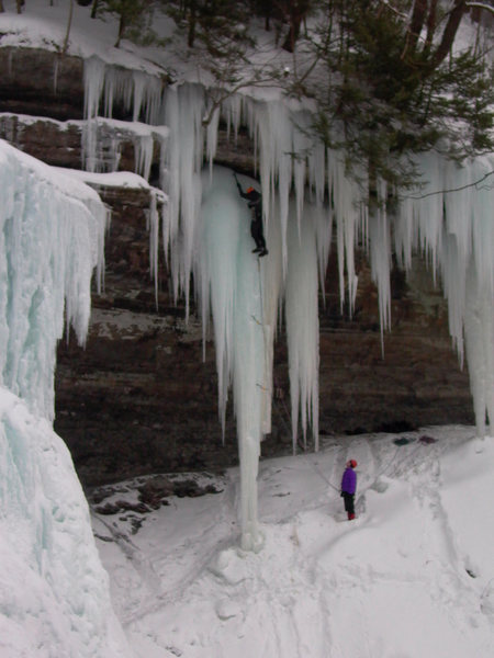 Rock Climbing Photo: First ascent of Trinity (WI5), Tinker's Falls....