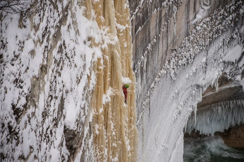 Rock Climbing Photo: An Aaron Peterson photo.  Clear and Cold Cinema.  ...