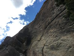 Rock Climbing Photo: A very cold rap down to base of the route after fa...