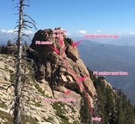 Rock Climbing Photo: A general route map.