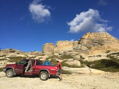 Rock Climbing Photo: We left our truck halfway because the blocks got t...