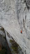 Rock Climbing Photo: Andrew on the Boulder Problem corner, heading to t...