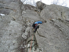 Rock Climbing Photo: This is the start of the Italian Traverse, an alte...