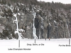 Rock Climbing Photo: Approaching the Palisades cliff from across Lake C...