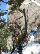Rock Climbing Photo: Prepping for an early season lead of Flying & Drin...