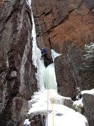 Rock Climbing Photo: The FA of Rampage (WI5).