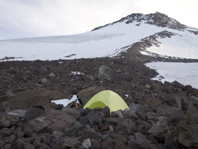 slept here before going for the summit
