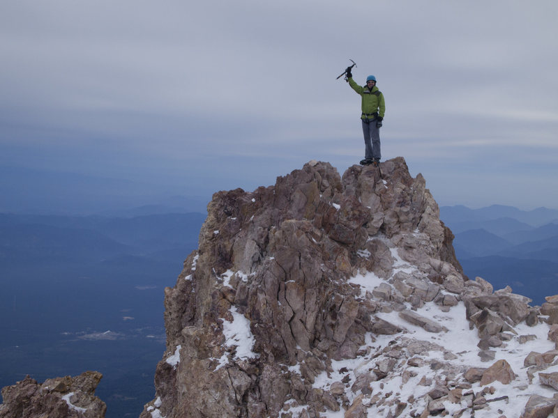 Rock Climbing Photo: on the summit -- to our surprise we saw absolutely...