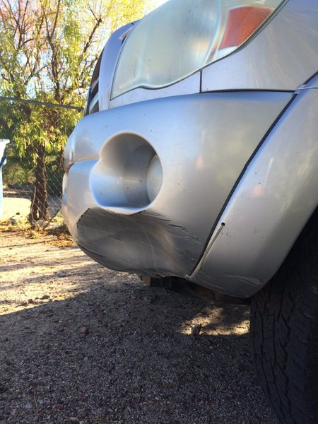 cosmetic dent, should pop right out