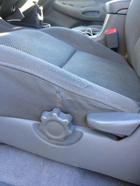 Rock Climbing Photo: drivers seat wear
