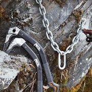 Rock Climbing Photo: Putting in new anchors at POS