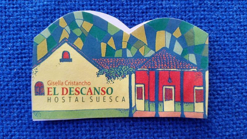 Biz card front for Hostal el Descanso.